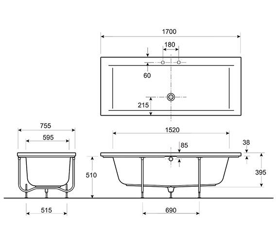 Technical drawing QS-V10726 / AH8502WH