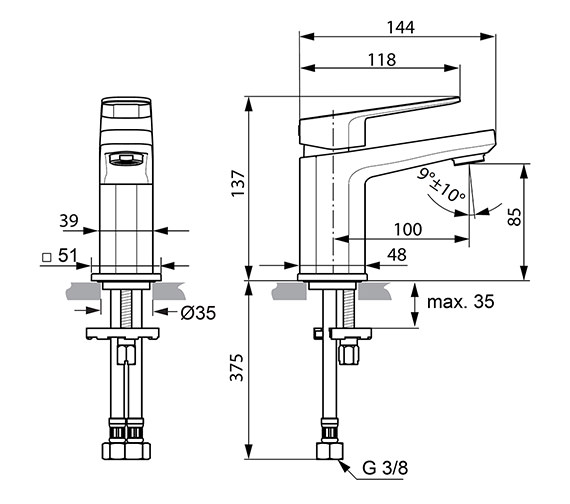 Technical drawing QS-V82198 / A6331AA