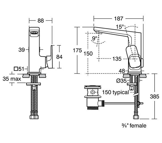 Technical drawing QS-V82199 / A6332AA