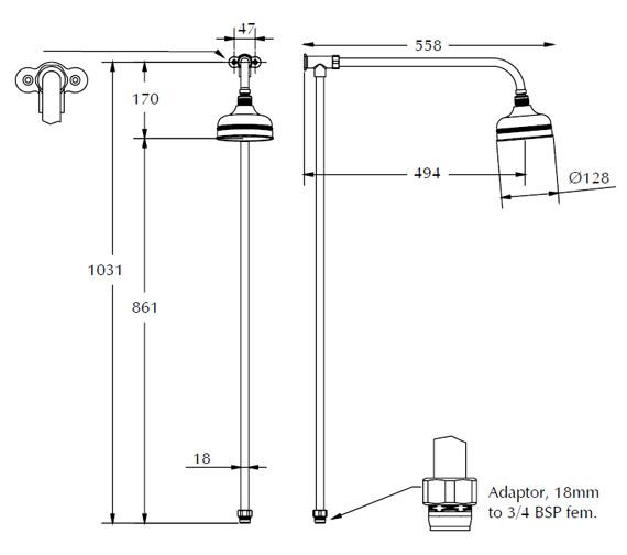 Technical drawing QS-V40603 / XS61400100