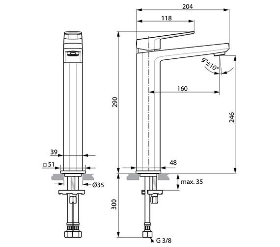 Technical drawing QS-V82196 / A6329AA