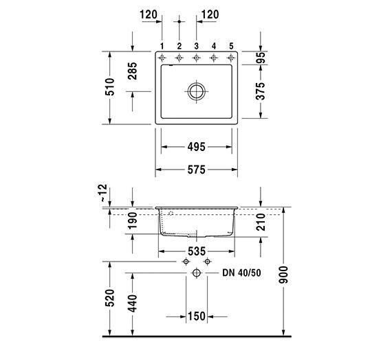 Technical drawing QS-V6398 / 7523570071
