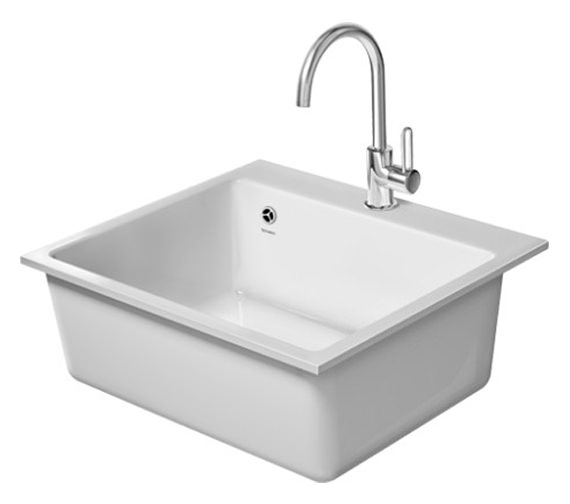Duravit Vero Flush Mounted 60F XL 555 x 510mm Kitchen Sink - 7523570037