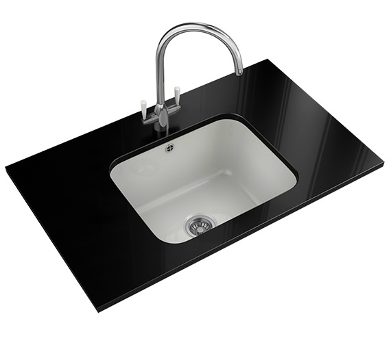 Additional image of Franke V And B VBK 110 50 Ceramic 1.0 Bowl White Undermount Kitchen Sink