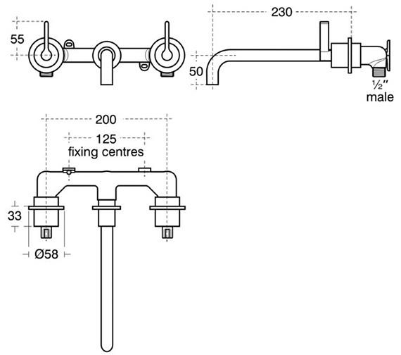 Technical drawing QS-V40300 / E0064AA