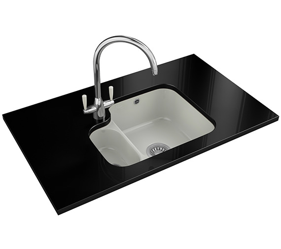 Franke V And B Designer Pack VBK 160 Ceramic White Kitchen Sink And Tap
