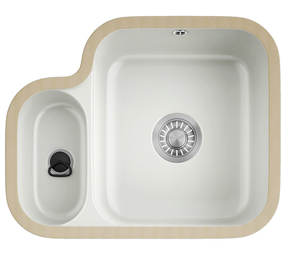 Franke V And B VBK 160 Ceramic White 1.5 Bowl Undermount Kitchen Sink