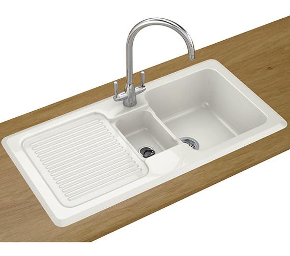 Franke V And B Designer Pack VBK 651 Ceramic White Kitchen Sink And Tap