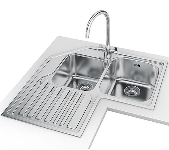 Franke Studio Designer Pack STX 621-E Stainless Steel Corner Sink And Tap