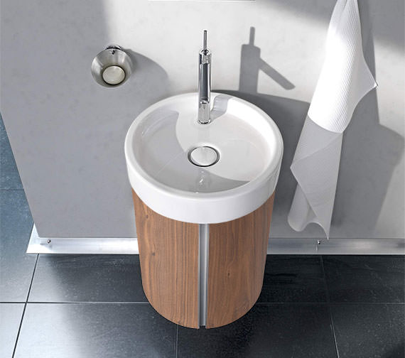 Duravit Starck Wall Mounted 450mm Circular Vanity Unit And 470mm Basin