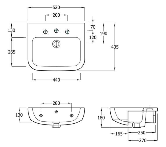 Technical drawing QS-V81329 / EC3004