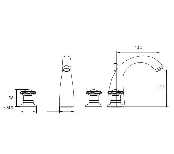 Technical drawing QS-V44040 / ZXT6017100