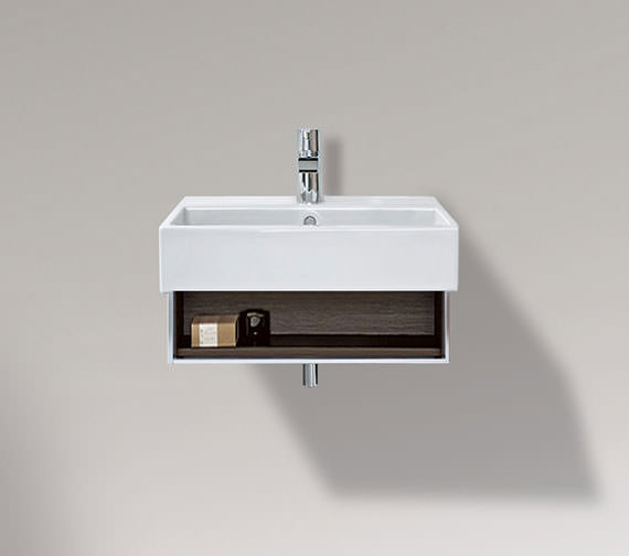 Duravit Vero 550mm Open Compartment Unit With Towel Rail And 600mm Basin