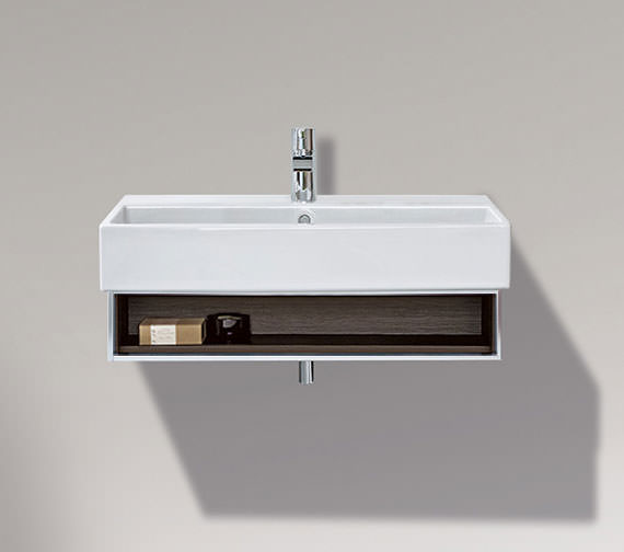 Duravit Vero 650mm Open Compartment Unit With Towel Rail And 700mm Basin