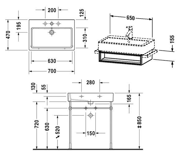 Technical drawing QS-V4302 / VE600501818
