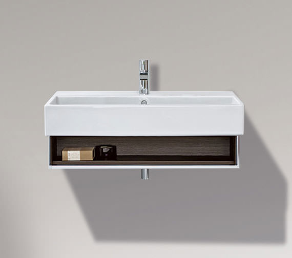 Duravit Vero 750mm Open Compartment Unit With Towel Rail And 800mm Basin