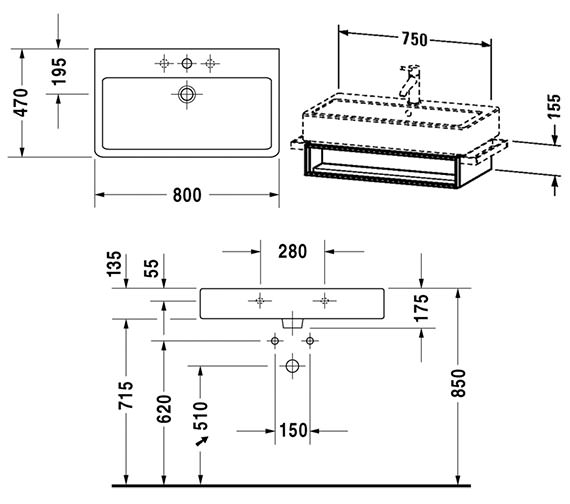 Technical drawing QS-V4303 / VE600601818