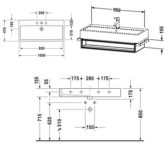 Technical drawing QS-V4304 / VE600701818
