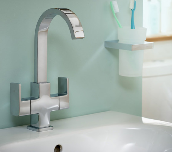 Essential Storm Basin Mixer Tap With Click Clack Waste - ET130