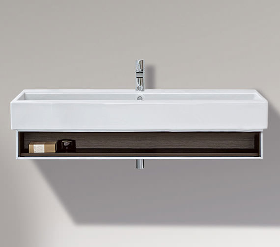 Duravit Vero 1150mm Open Compartment Unit With Towel Rail And 1200mm Basin