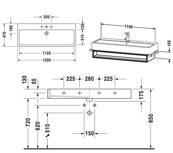 Technical drawing QS-V4305 / VE600801818