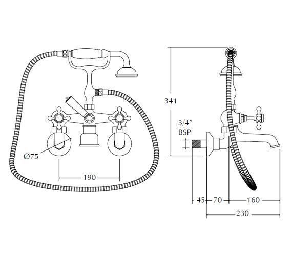 Technical drawing QS-V44078 / XO61000100W