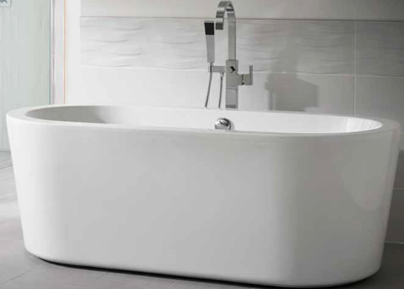 Essential Pebble Freestanding Bath 1700 x 800mm - EB121
