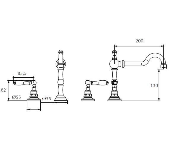 Technical drawing QS-V44054 / ZXT6057100