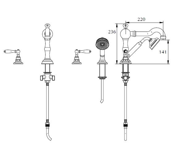 Technical drawing QS-V44057 / ZXT6058100