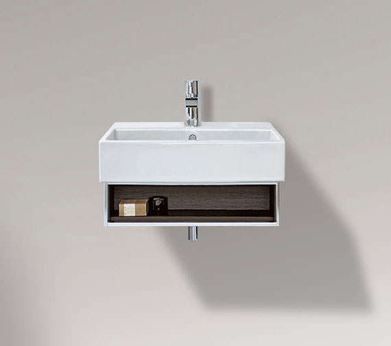 Duravit Vero 450mm Open Compartment Unit With Towel Rail And 500mm Basin