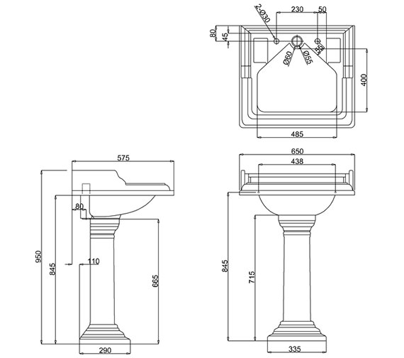 Technical drawing QS-V74020 / B14