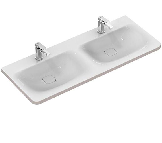 Ideal Standard Tonic II 1200mm Double Vanity Washbasin Matt Brown Edge