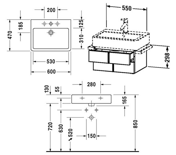 Technical drawing QS-V4313 / VE620401818