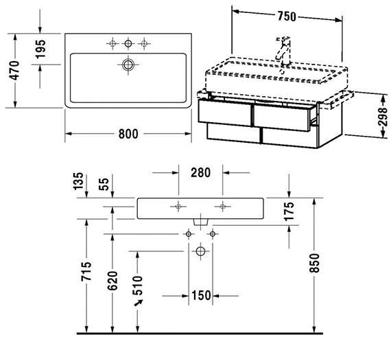 Technical drawing QS-V4315 / VE620600000