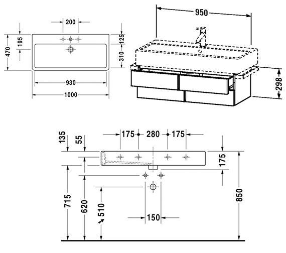 Technical drawing QS-V4316 / VE620700000