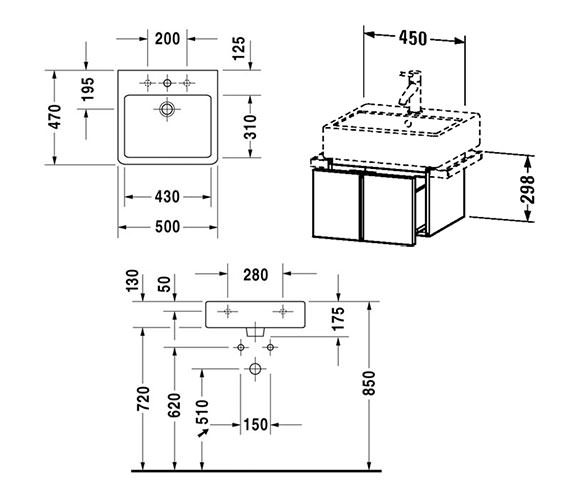 Technical drawing QS-V4306 / VE610300000