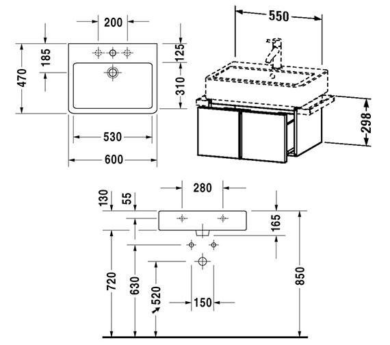 Technical drawing QS-V4307 / VE610400000