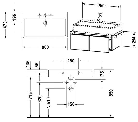 Technical drawing QS-V4309 / VE610600000