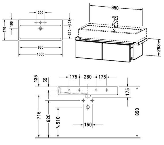 Technical drawing QS-V4310 / VE610700000