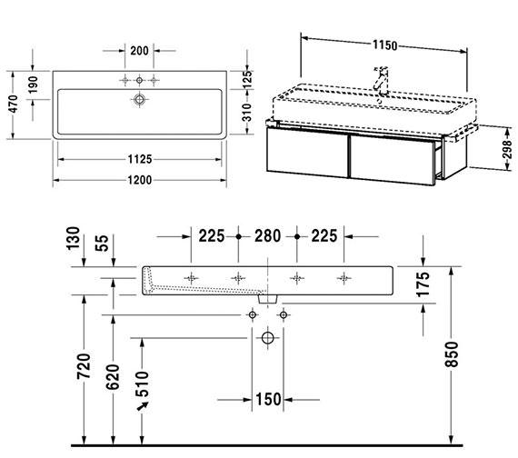 Technical drawing QS-V4311 / VE610800000