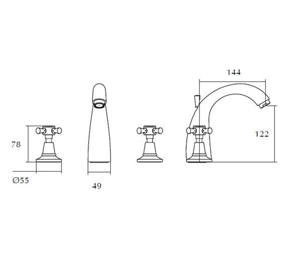 Technical drawing QS-V44133 / ZXT6005100