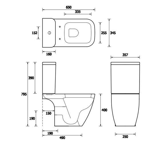 Technical drawing QS-V81326 / EC4003