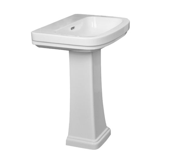 Essential Iris 1TH 55cm Basin With Full Pedestal