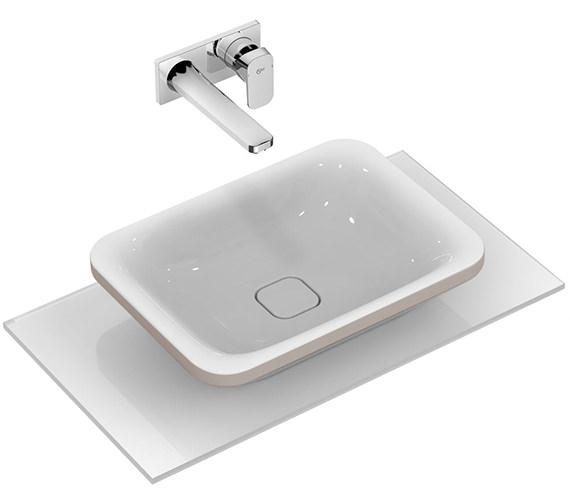 Ideal Standard Tonic II 550mm Vessel Washbasin Matt Brown Edge