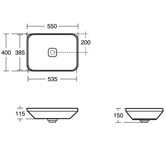 Technical drawing QS-V3454 / K0834FM