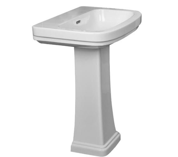 Essential Iris 2TH 55cm Basin With Full Pedestal