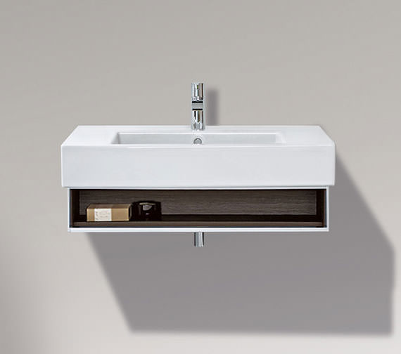 Duravit Vero 800mm Open Compartment Unit With Towel Rail And 850mm Basin