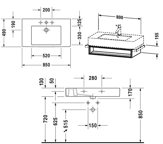 Technical drawing QS-V4318 / VE601301818