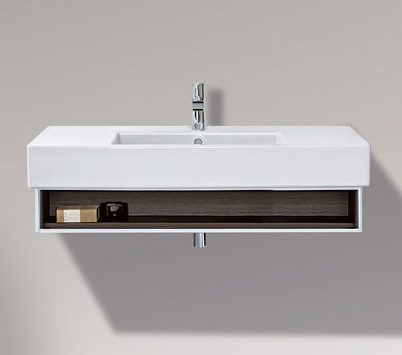 Duravit Vero 1000mm Open Compartment Unit With Towel Rail And 1050mm Basin