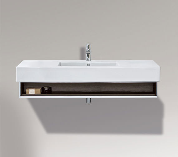 Duravit Vero 1200mm Open Compartment Unit With Towel Rail And 1250mm Basin